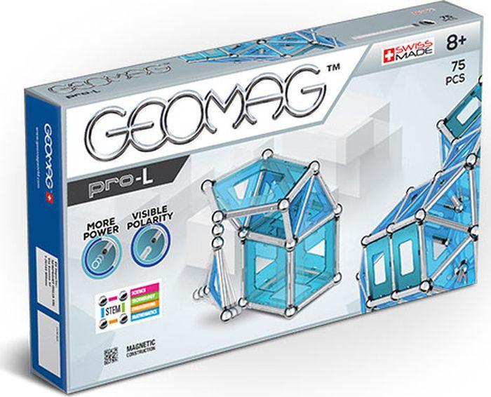 Конструктор магнитный Geomag Pro-L, 023, 75 элементов023Конструктор Geomag состоящий из магнитных палочек, хромированных стальных шариков и геометрических фигурок. Материал: магнит, пластик, сталь. Позволяет собирать огромное количество геометрических форм.