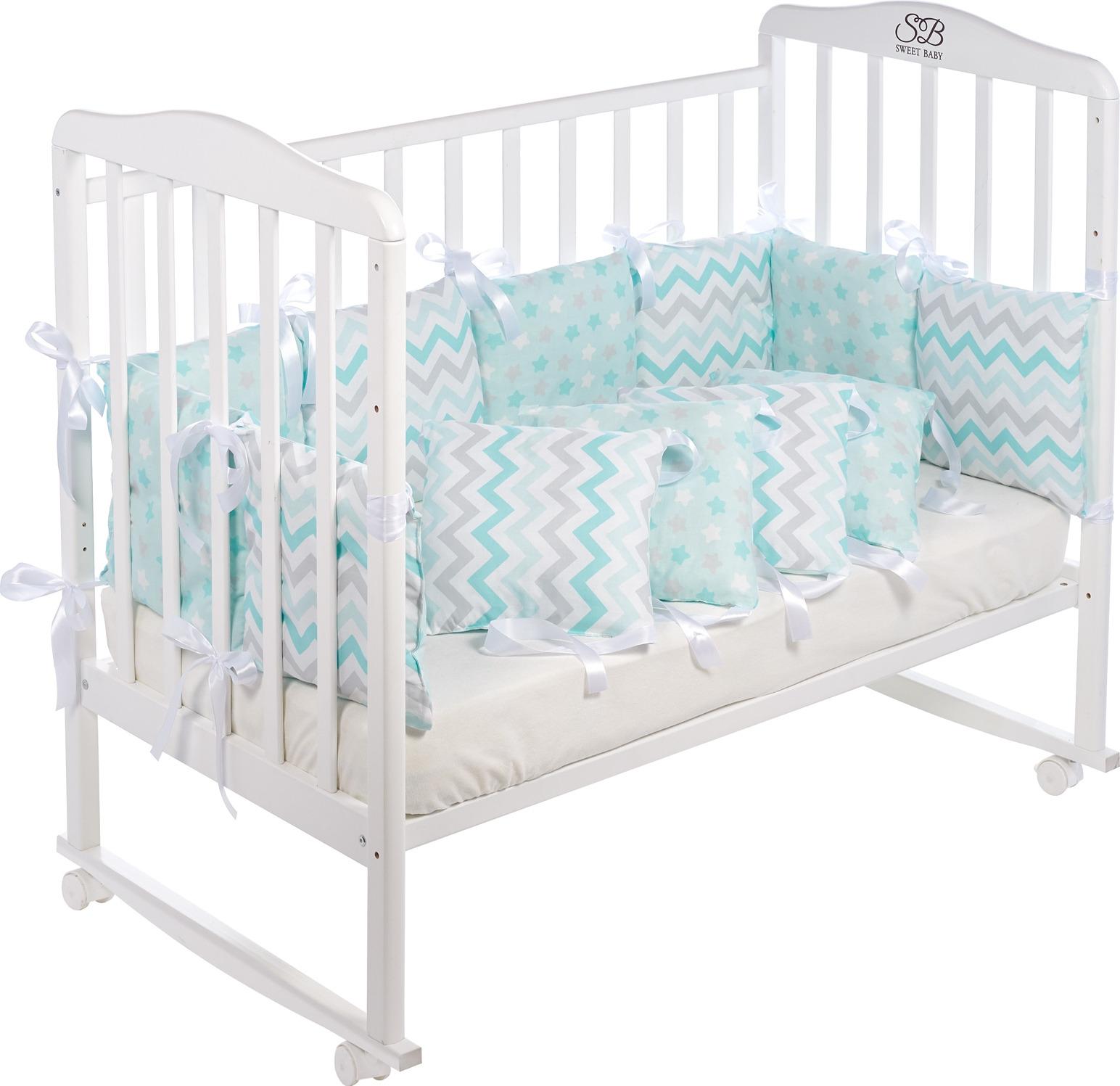Бортики в кроватку Sweet Baby Colori, 419235, голубой, 12 частей