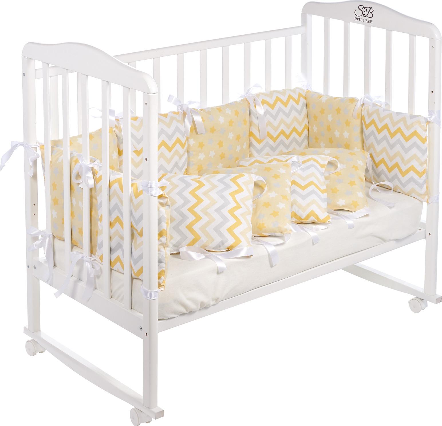Бортики в кроватку Sweet Baby Colori, 419236, желтый, 12 частей