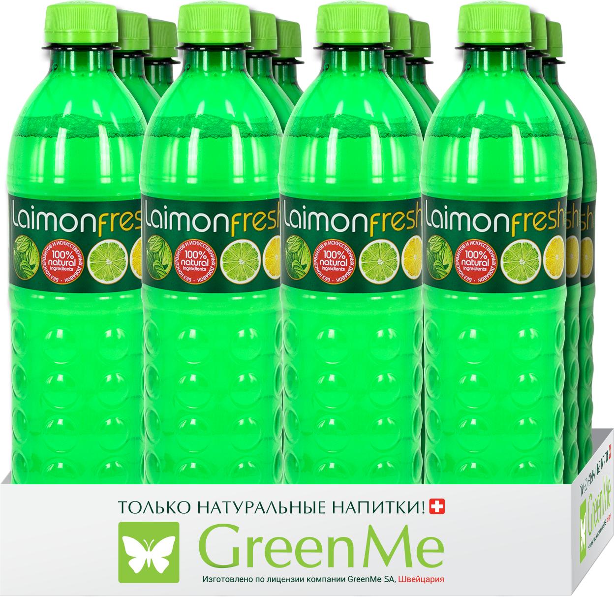 """Газированный напиток Laimon Fresh """"Лайм-Лимон-Мята"""", 12 шт х 500 мл"""