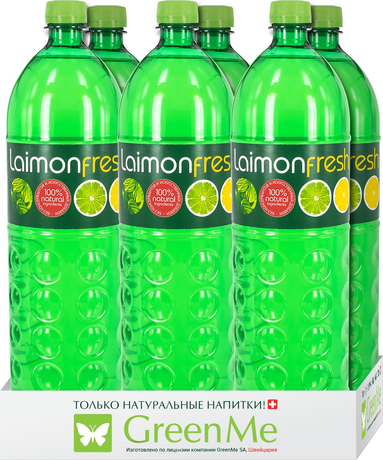 Газированный напиток Laimon Fresh Лайм-Лимон-Мята, 6 шт х 1,5 л безалкогольный напиток среднегазированный аскания лайм мята 12 шт по 0 5 л