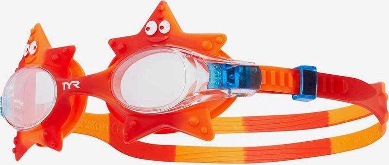 Очки для плавания TYR Kids' Swimple Starfish, LGSWSTAR, оранжевый очки для плавания tyr tyr ty003duxis90