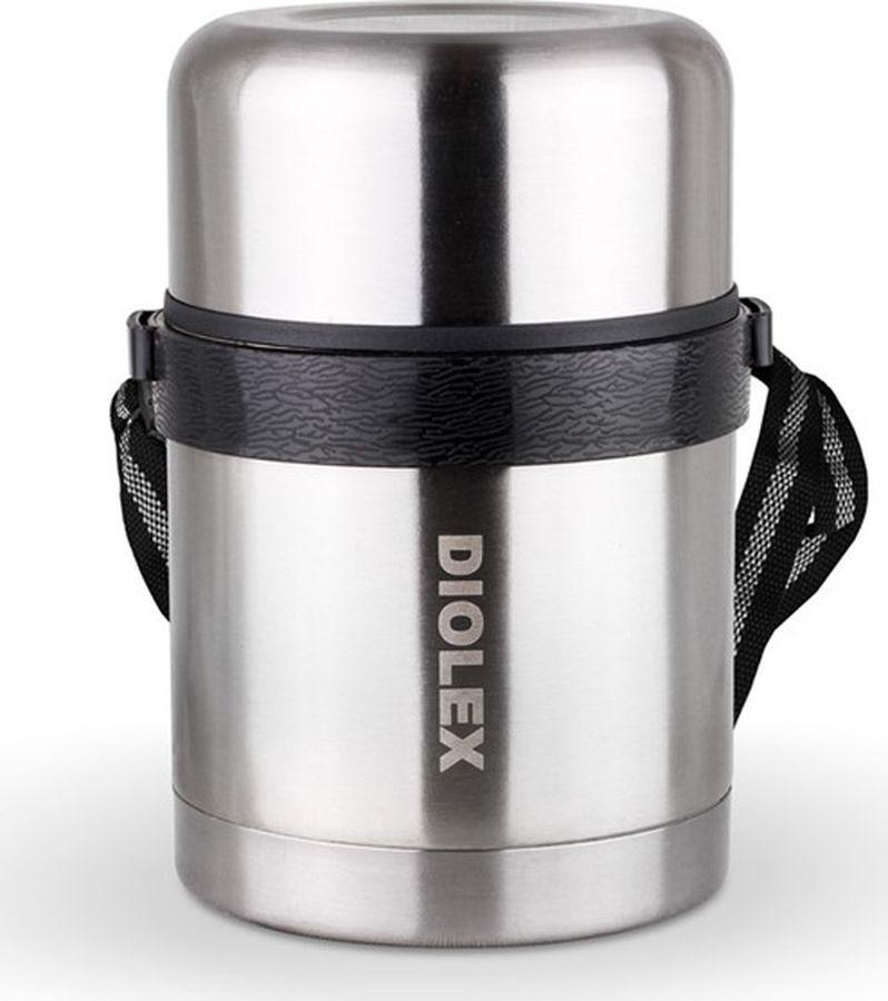 Термос Diolex, DXF-1000-1, серебристый, суповой, 1 л цена и фото