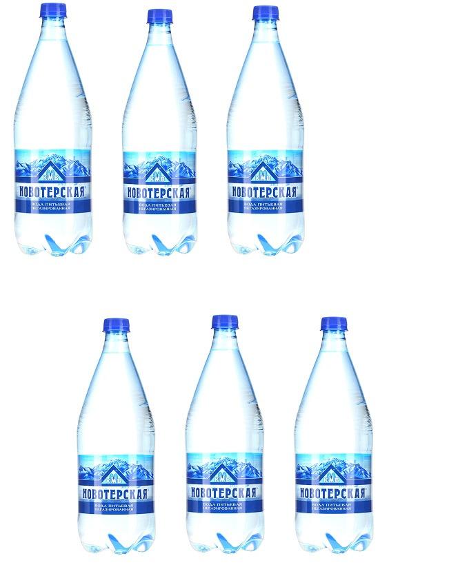 """Вода Новотерская """"Целебная"""", питьевая, негазированная, 6 шт х 500 мл"""