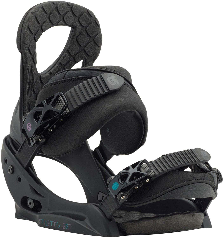 Крепления для сноуборда женские Burton Stiletto, цвет: черный. Размер L