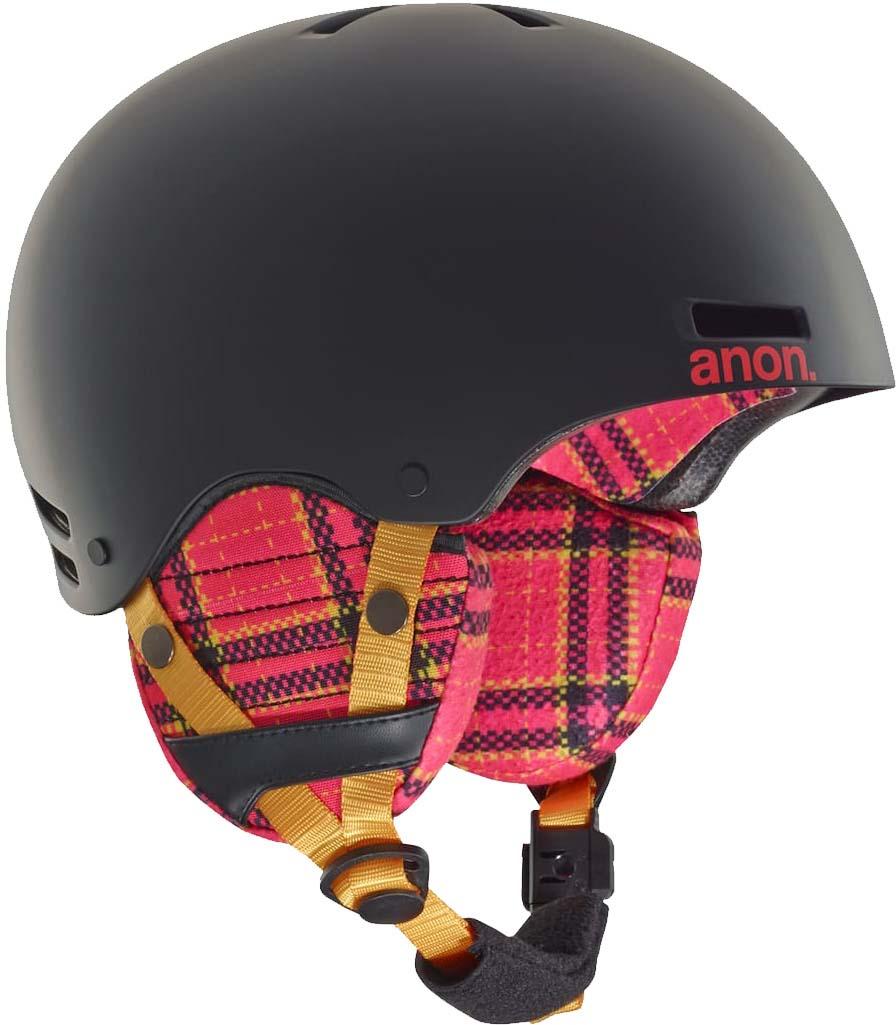 Шлем горнолыжный для мальчика Anon Rime, цвет: черный. Размер S/M anon маска сноубордическая anon somerset pellow gold chrome