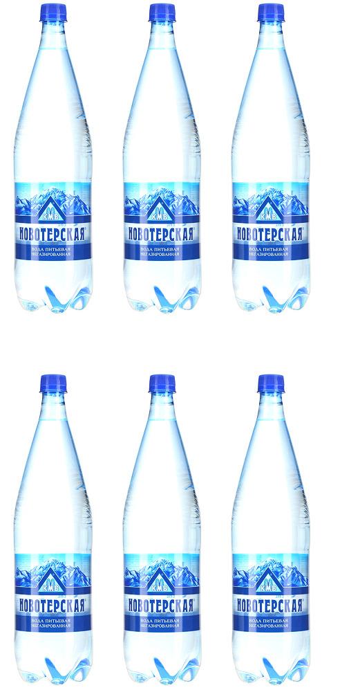 """Вода Новотерская """"Целебная"""", питьевая, негазированная, 6 шт х 1,5 л"""