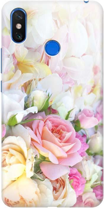 Чехол-накладка Gosso Cases Нежные розы для Xiaomi Mi Max 3, 196829, ультратонкий, силиконовый телефон