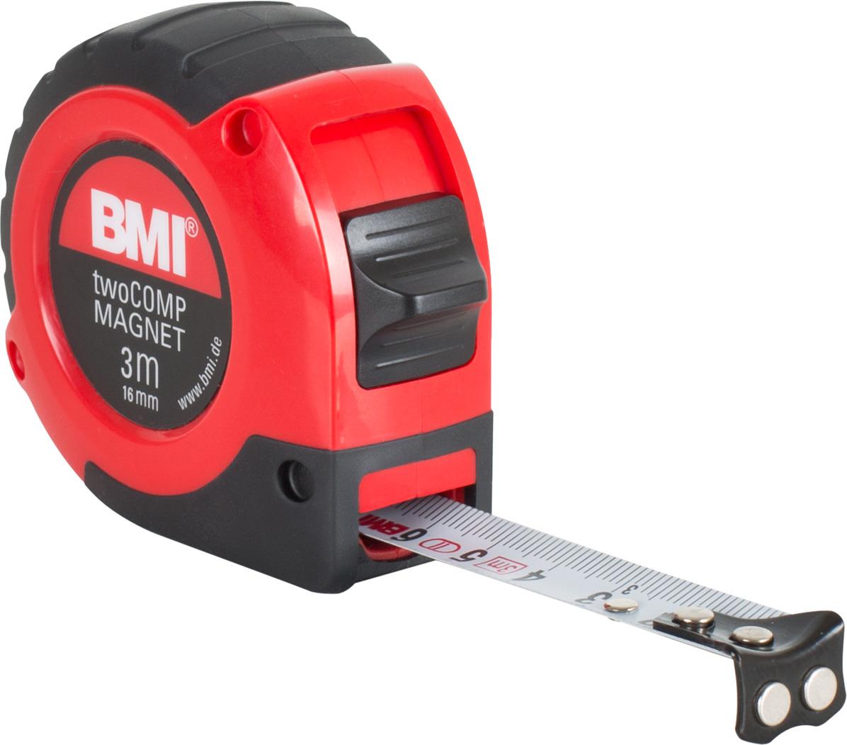 Измерительная рулетка BMI Twocomp Magnetic, 472341021M, 3 м