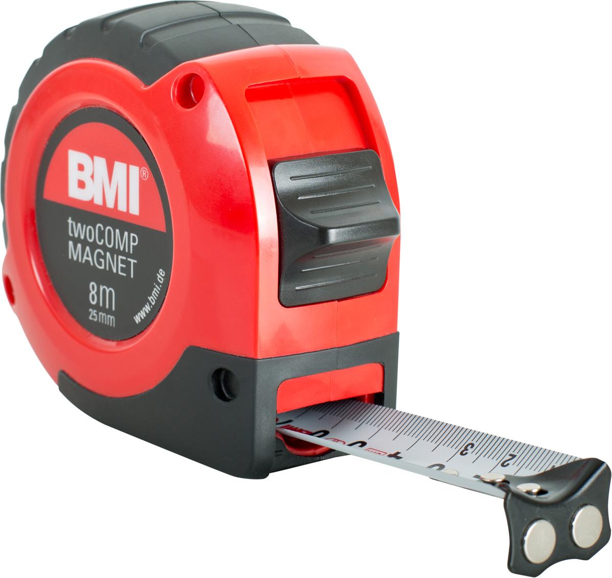 Измерительная рулетка BMI Twocomp Magnetic, 472841021M, 8 м