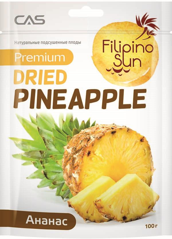 Filipino Sun сушеный ананас, 100 г