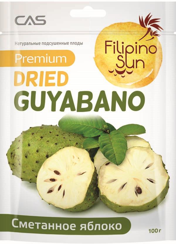 Filipino Sun сушеное сметанное яблоко, 100 г