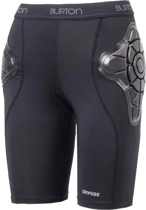 Шорты защитные мужские Burton Mb Total Imp Short, цвет: черный. Размер L шорты женские puma ignite short tight w цвет черный 51668403 размер l 46 48