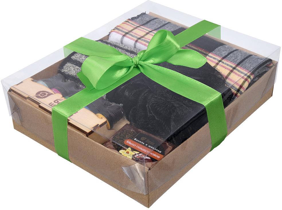 """Подарочный набор Банные штучки """"Черный"""", 41278, 5 предметов"""