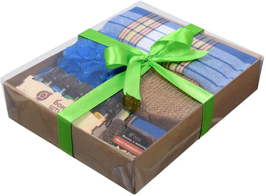 Подарочный набор Банные штучки Синий, для мужчин, 41290, 5 предметов