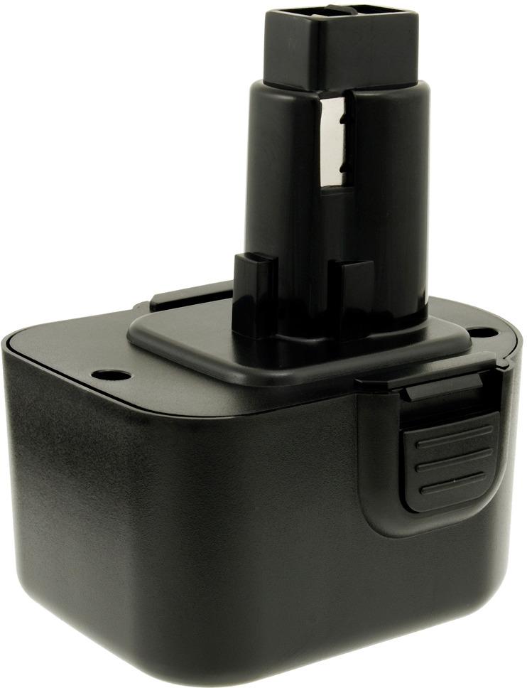 Аккумулятор Заряд НКБ-1220-DW-A для шуруповертов DeWalt, 12В, 2,0Ач, NiCd, черный аккумулятор заряд нкб 1215 мк a для шуруповертов makita 12 0в 1 5ач nicd