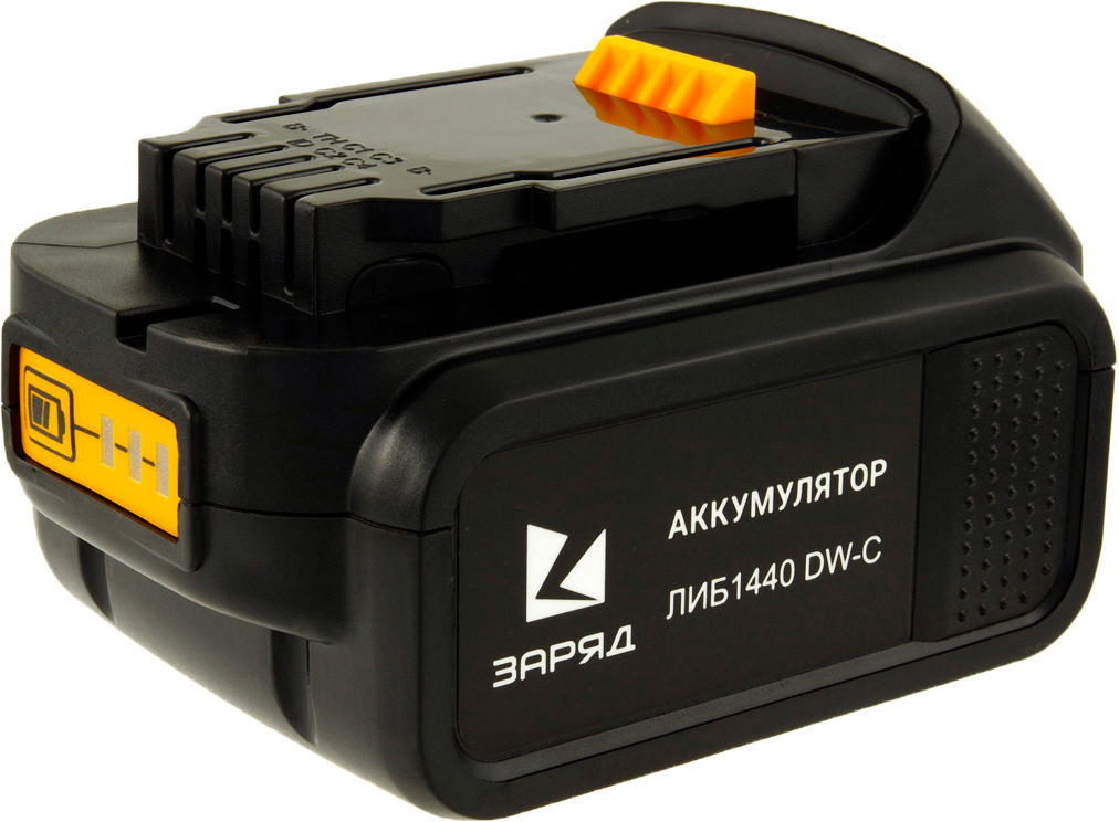 Аккумулятор Заряд ЛИБ-1440-DW-C для шуруповертов DeWalt, 6127309, черный аккумулятор заряд либ 1860 бш с для шуруповертов бош 18 0в 6 0ач li ion
