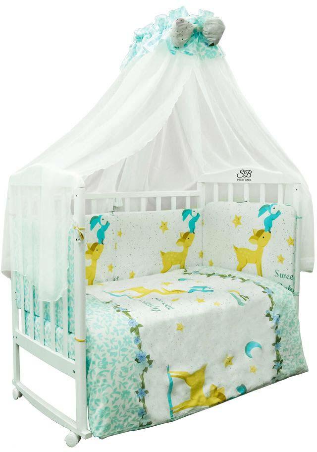 Комплект в кроватку Sweet Baby Renna, 410654, голубой, 7 предметов