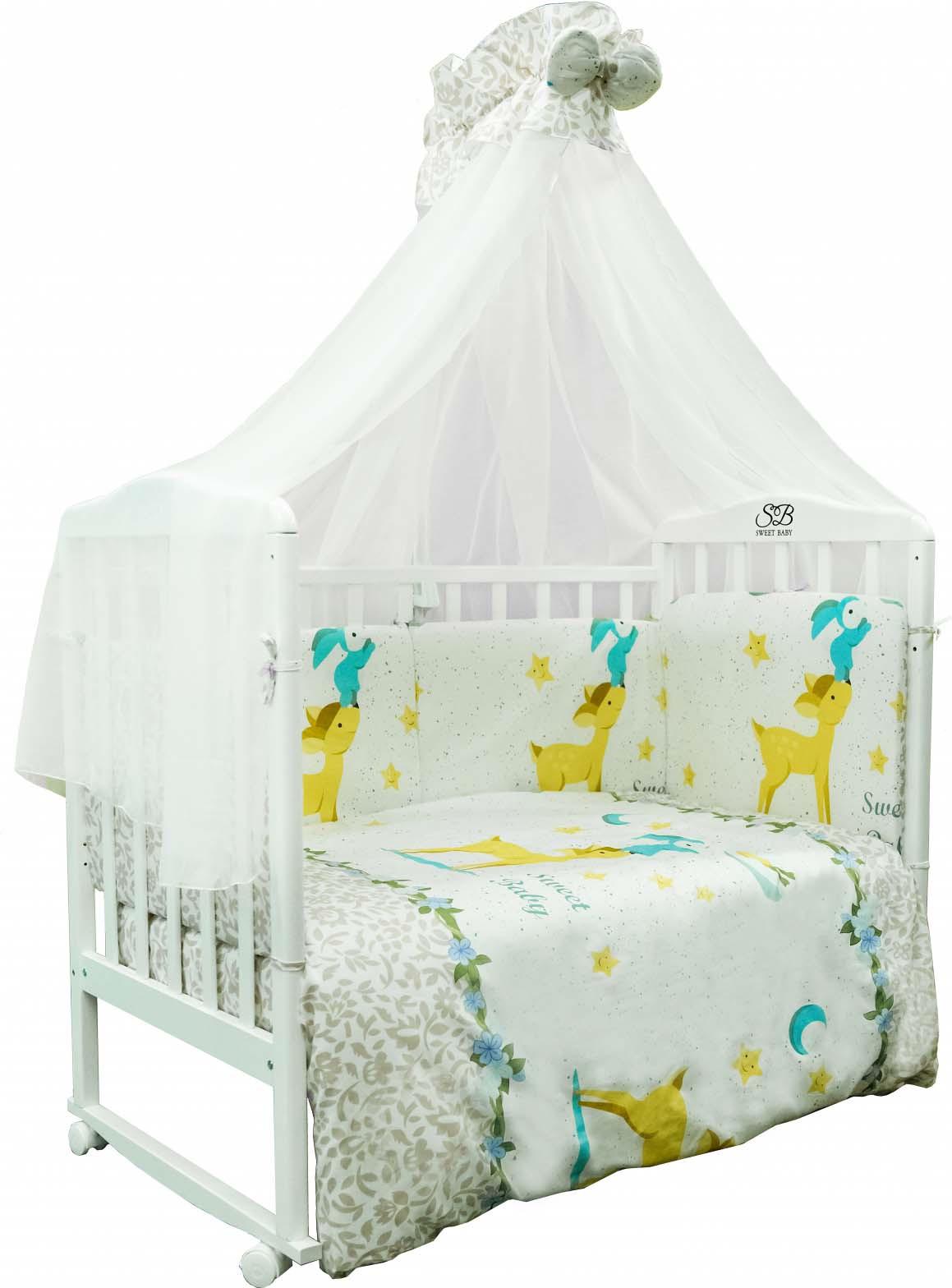 Комплект в кроватку Sweet Baby Renna, 410655, розовый, 7 предметов комплекты в кроватку makkaroni kids sweet baby 125x65 6 предметов