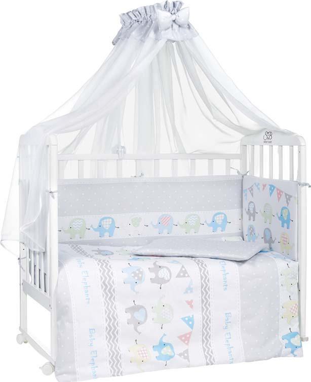 Комплект в кроватку Sweet Baby Alfiere, 412846, светло-серый, 7 предметов