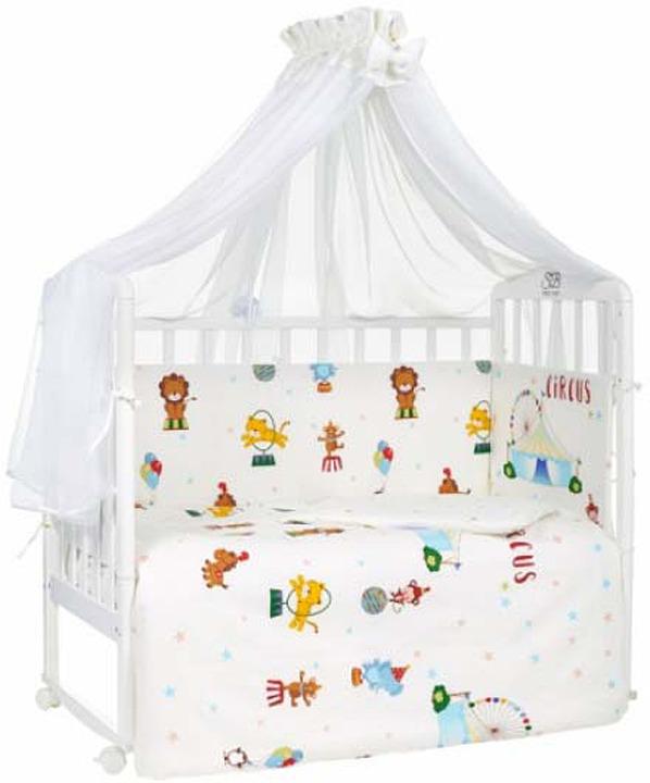 Комплект в кроватку Sweet Baby Circo, 412841, молочный, 7 предметов комплекты в кроватку makkaroni kids sweet baby 125x65 6 предметов