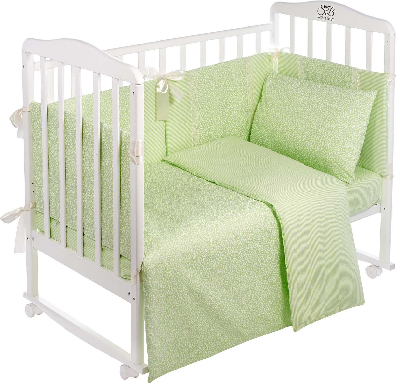 Комплект в кроватку Sweet Baby Venere, 419064, светло-зеленый, 4 предмета