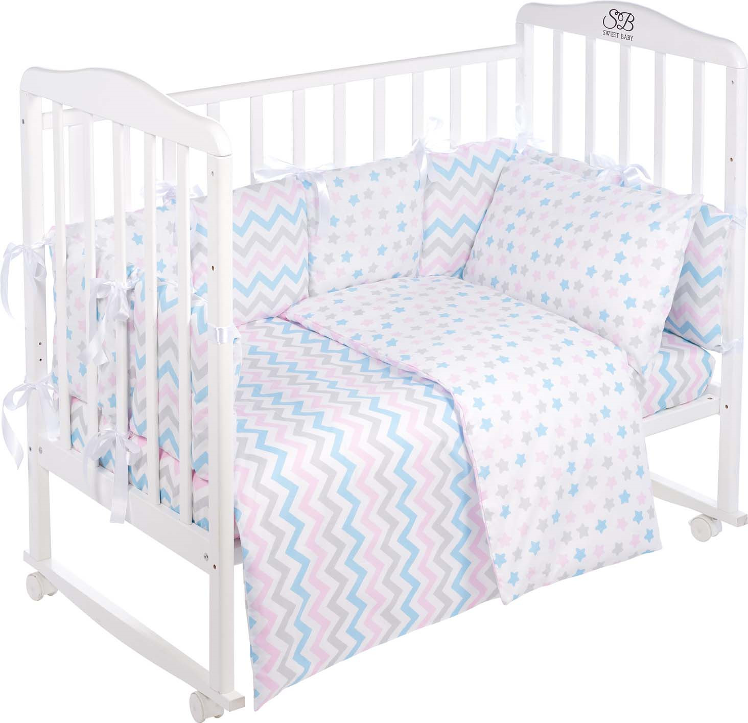 Комплект в кроватку Sweet Baby Anastasia, 419242, белый, 4 предмета
