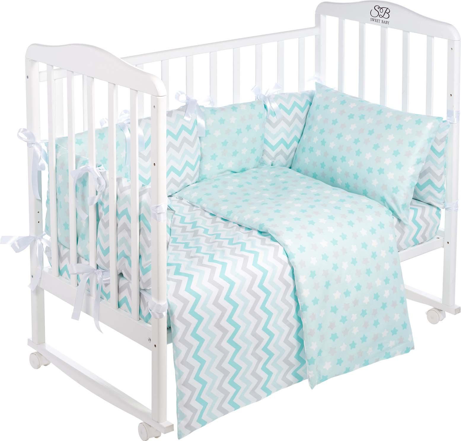 Комплект в кроватку Sweet Baby Anastasia, 419243, голубой, 4 предмета