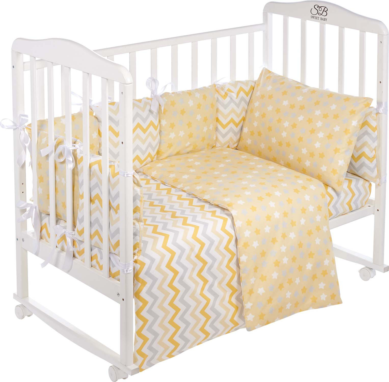 Комплект в кроватку Sweet Baby Anastasia, 419244, желтый, 4 предмета