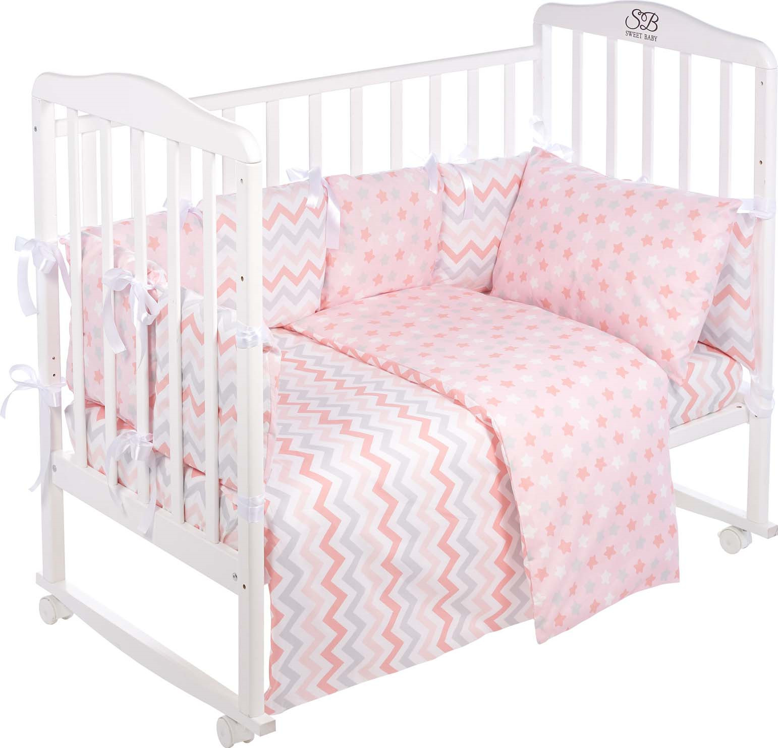 Комплект в кроватку Sweet Baby Anastasia, 419245, розовый, 4 предмета