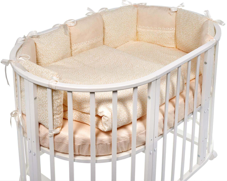 Комплект в овальную кроватку Sweet Baby Aria, 419059, бежевый, 5 предметов