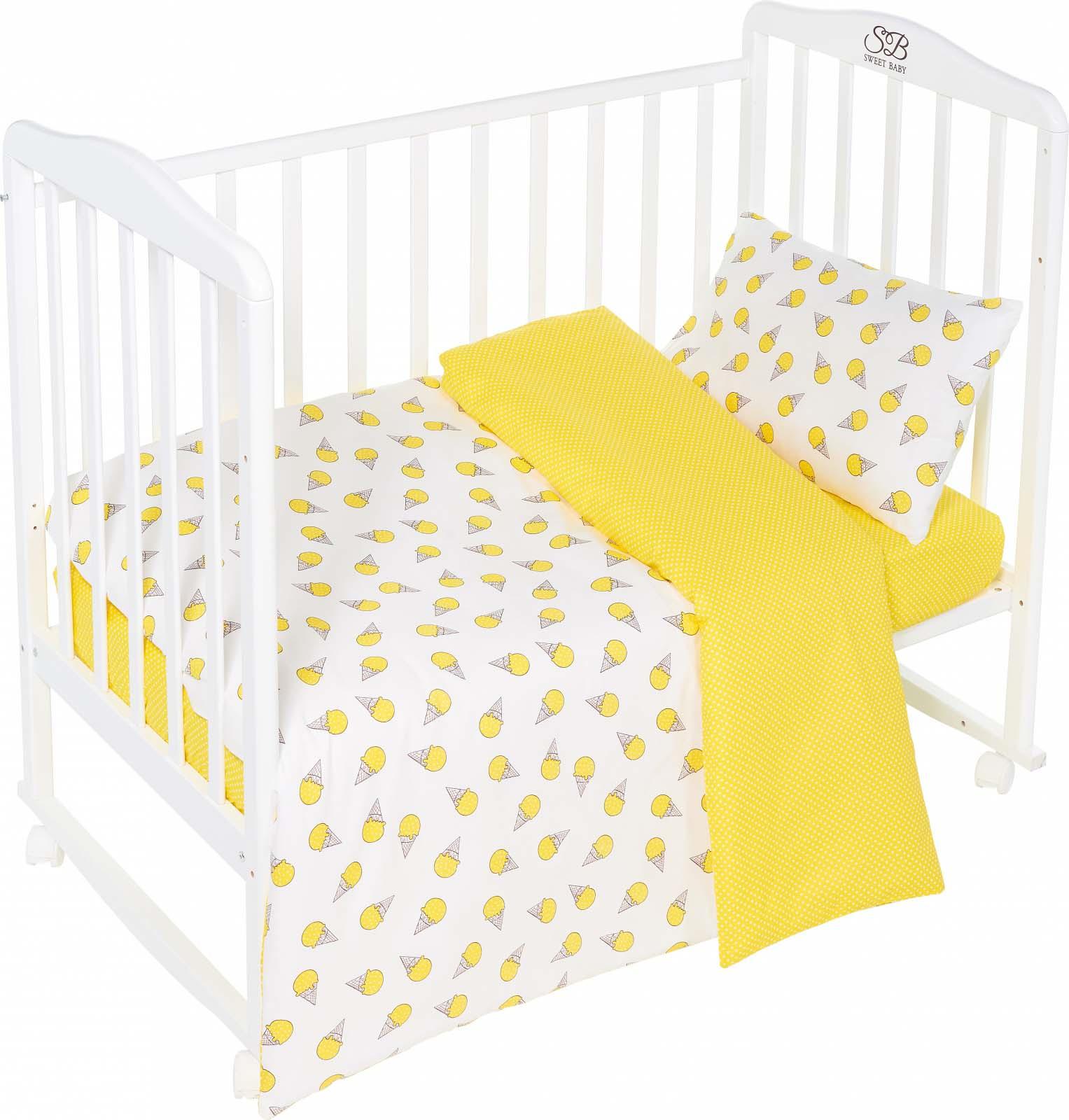 Комплект постельного белья Sweet Baby Gelato, 411959, желтый, 3 предмета цена