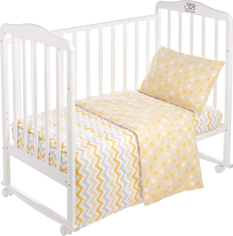Комплект постельного белья Sweet Baby Colori, 419067, желтый, 3 предмета цена
