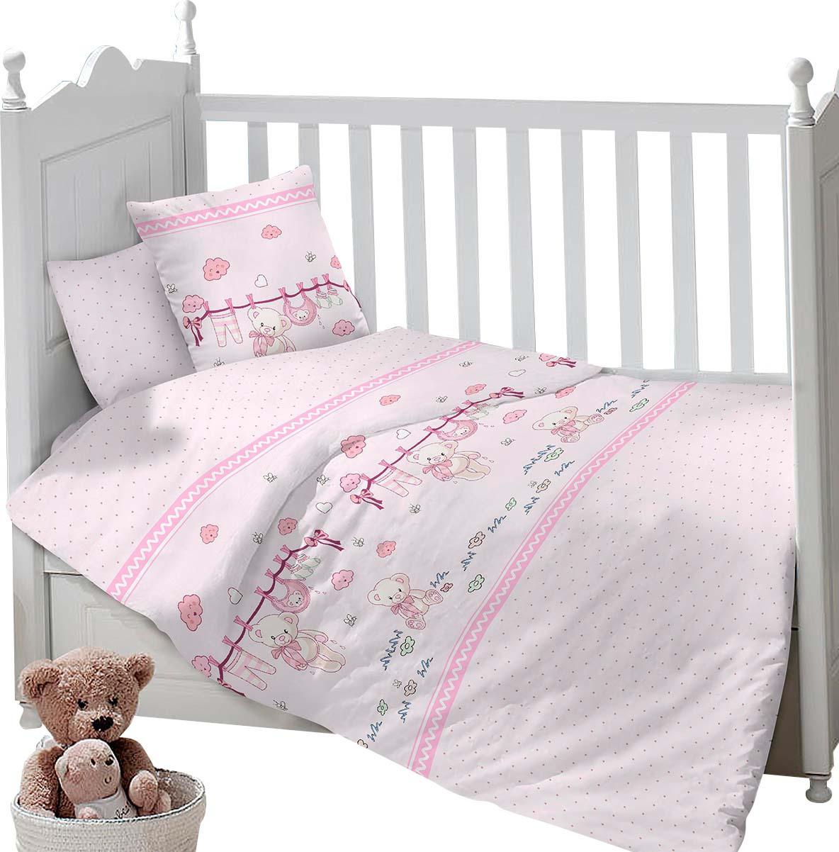 Комплект постельного белья Sweet Baby Gioco, 416123, розовый, 3 предмета цена