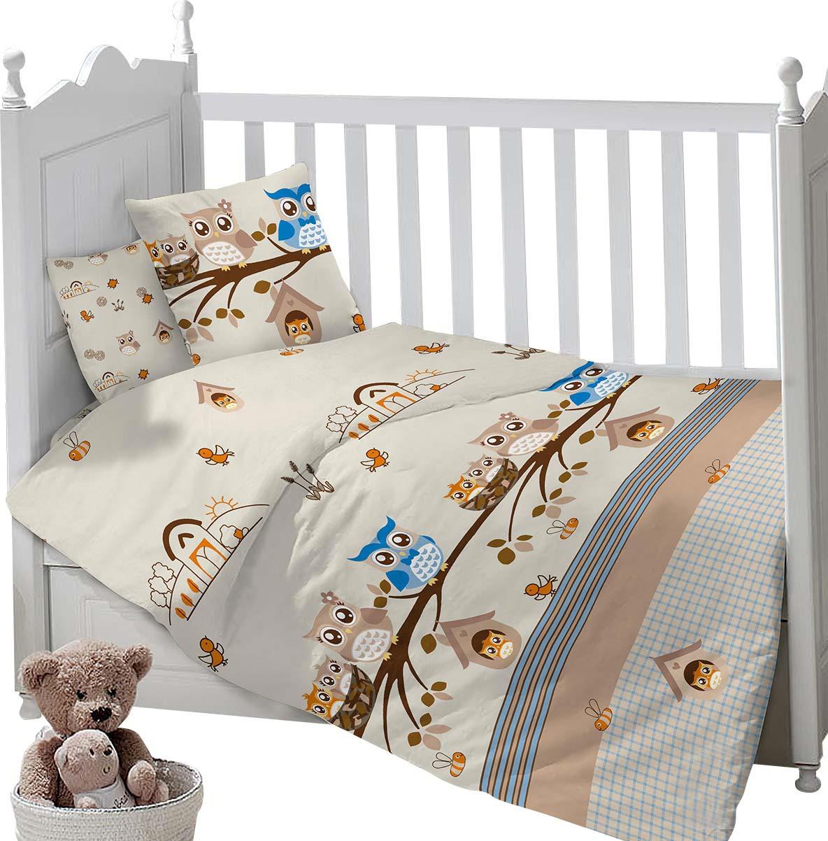 Комплект постельного белья Sweet Baby Gioco, 419295, бежевый, 3 предмета