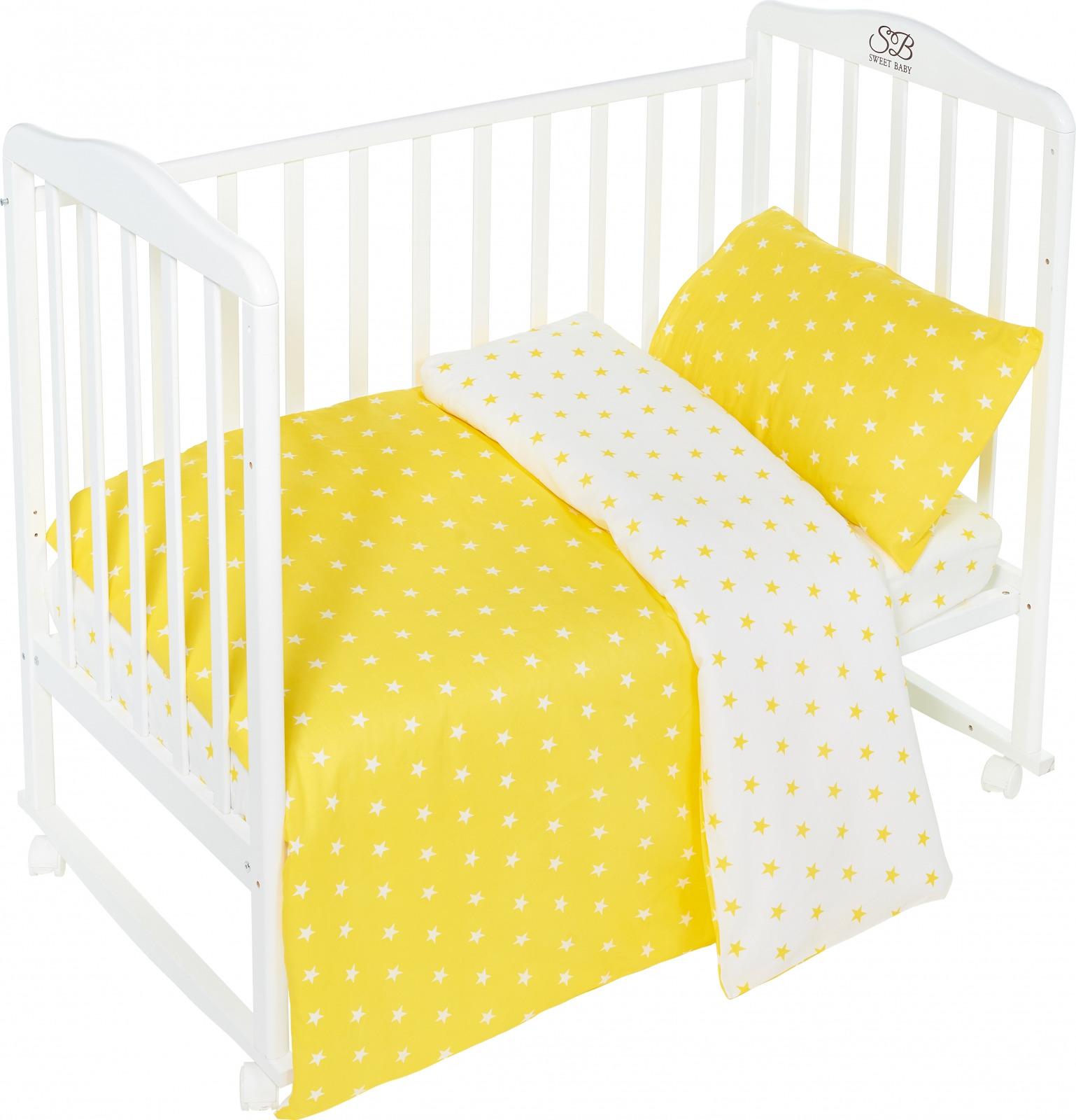 Комплект постельного белья Sweet Baby Stelle, 411953, желтый, 3 предмета цена