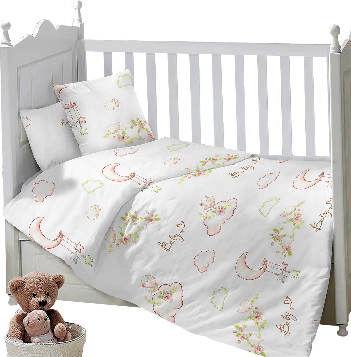 Комплект постельного белья Sweet Baby Gioco, 419300, белый, 3 предмета комплект постельного белья 3 предмета erbesi birba белый песочный