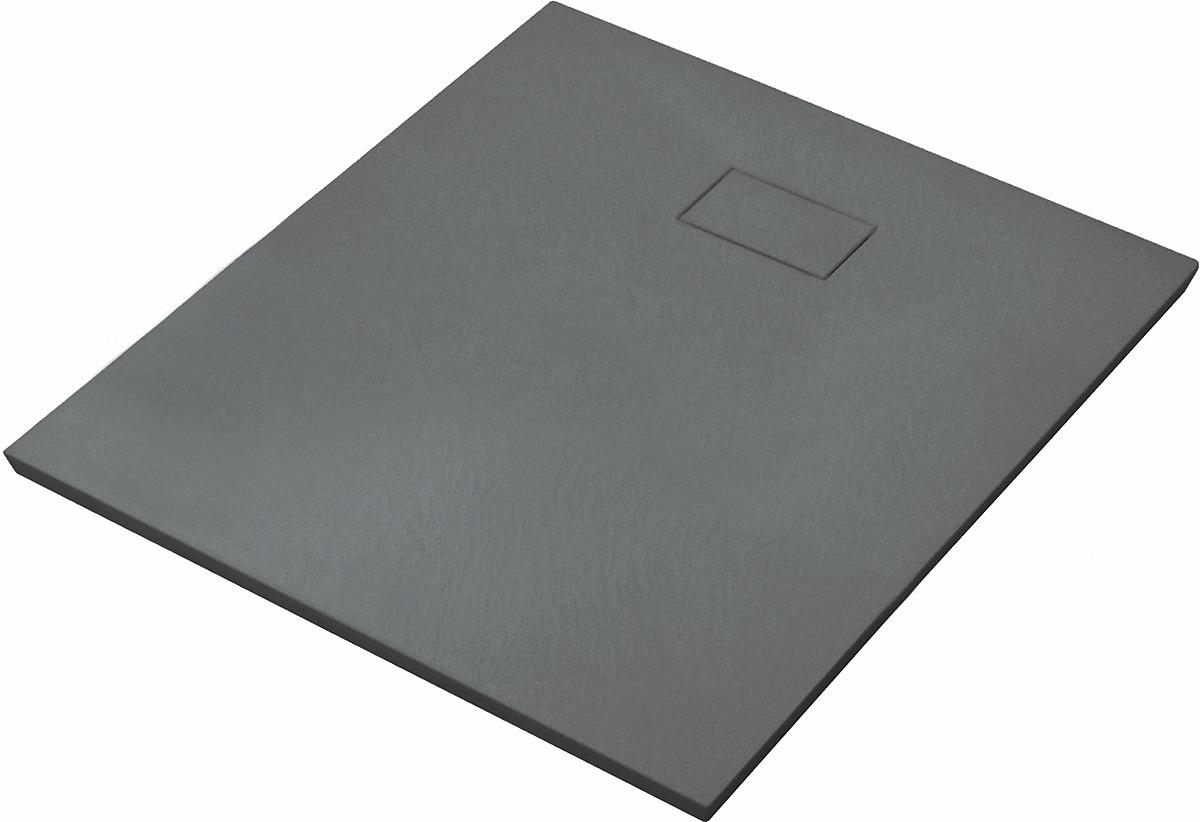 Душевой поддон WasserKRAFT Elbe, квадрат, с сифоном и SMC-заглушкой, 74T03, 90 х 90 см, черный