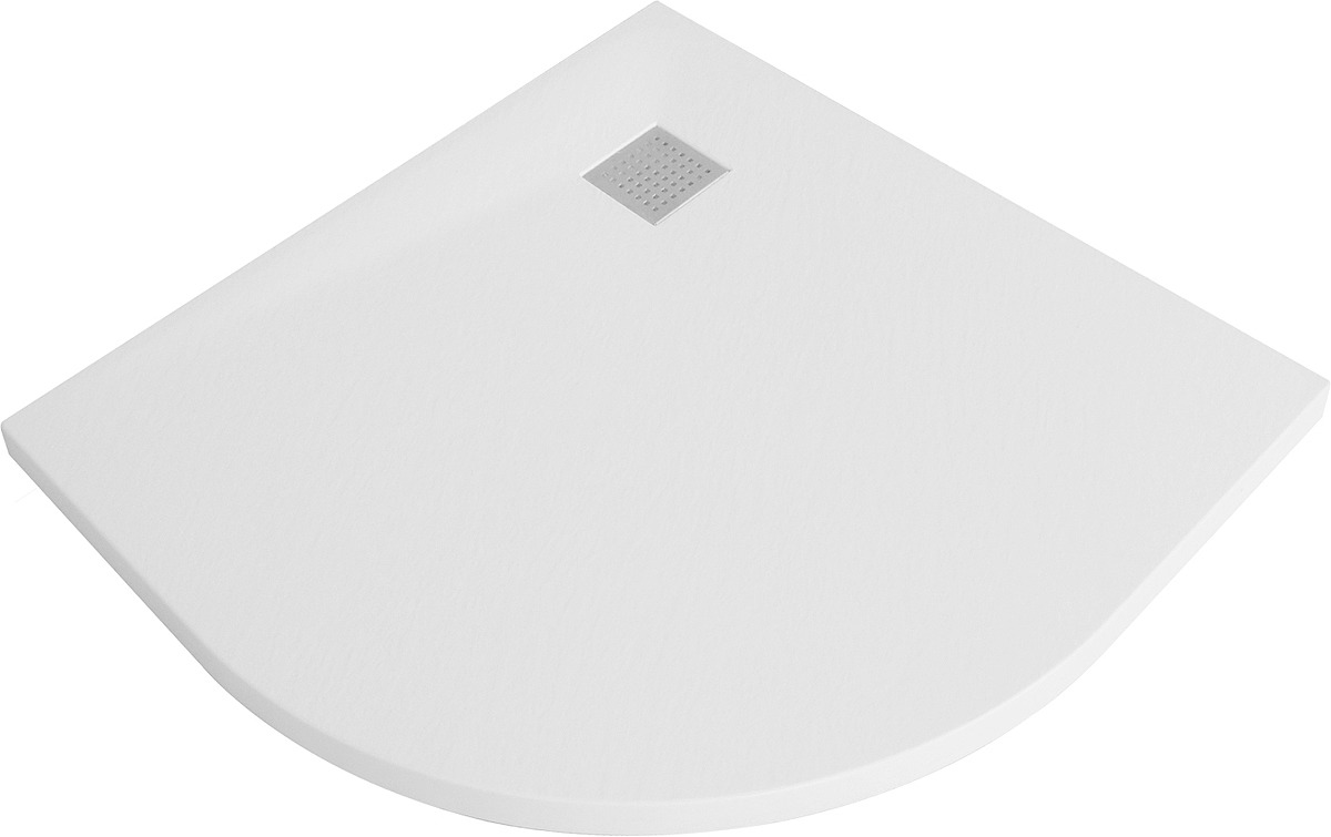 Душевой поддон WasserKRAFT Leine, сектор, с сифоном и заглушкой, 35T01, 90 х 90 см, белый