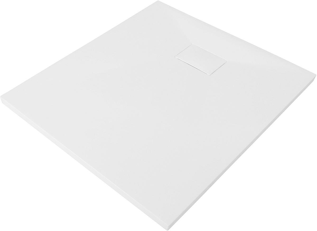 Душевой поддон WasserKRAFT Leine, квадрат, с сифоном и заглушкой, 35T03, 90 х 90 см, белый