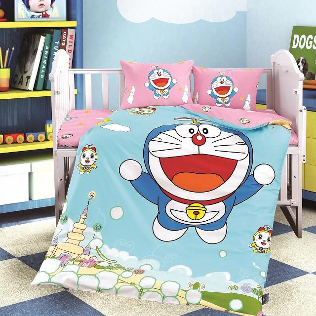 Комплект в кроватку DO&CO КПБ Сатин 100X150 KITTEN, 10034, бирюзовый