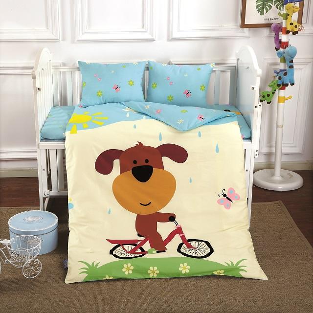 Комплект в кроватку DO&CO КПБ Сатин 100X150 DOGGY, 10041