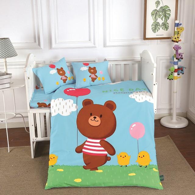 Комплект в кроватку DO&CO КПБ Сатин 100X150 NICE, 10047