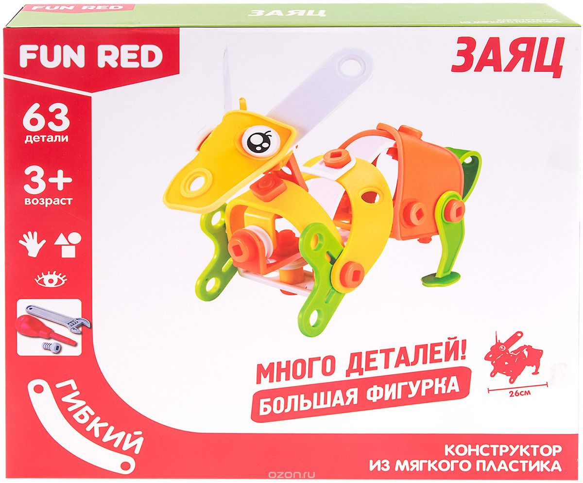 "Конструктор Fun Red ""Заяц"", 63 детали"