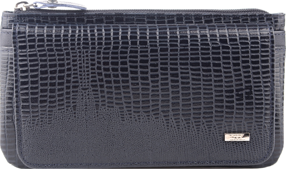 Кошелек женский Esse Инканто, GINC00-00ML00-FK708T-K100, темно-синий портмоне женское esse инканто цвет сливовый ginc00 00ml00 d8507o k100