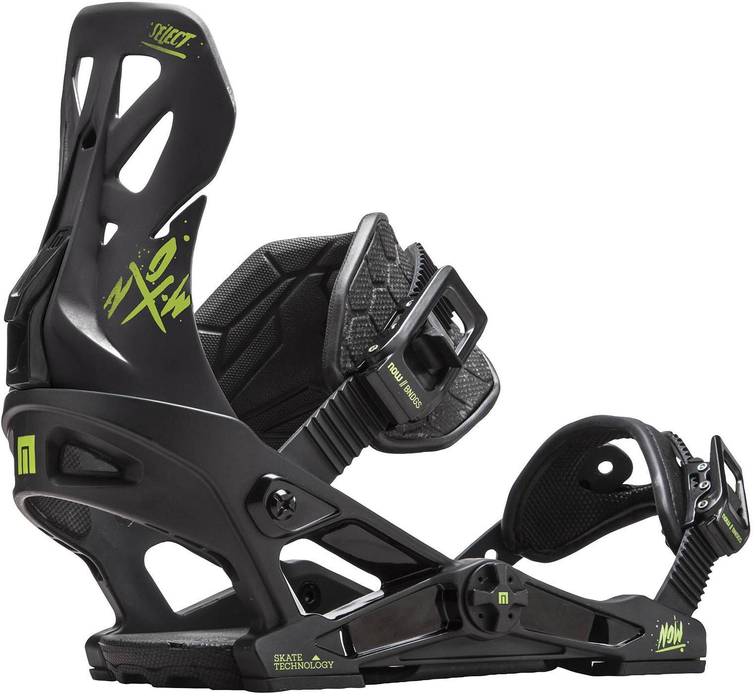 Крепления для сноуборда NOW Select, 7640178032965, черный, размер M