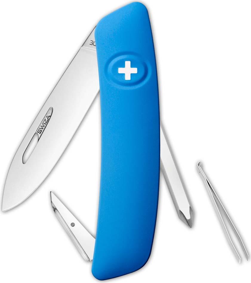Перочинный швейцарский нож SWIZA D02 Standard, KNI.0020.1031, синий, 95 мм, 6 функций