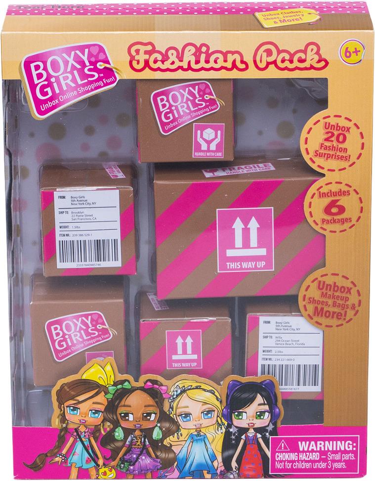 Фото - Игровой набор 1TOY из 6 посылок с сюрпризом для кукол Boxy Girls, Т15111 1toy кукла 1toy boxy girls бруклин 20 см с аксессуарами