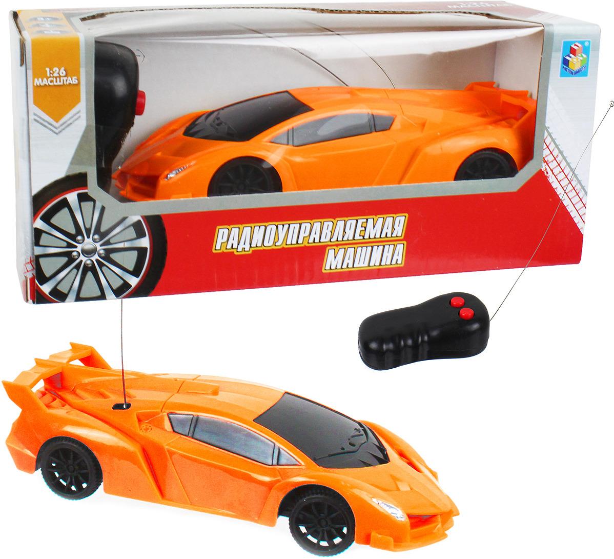 Машина радиоуправляемая 1TOY Спортавто, Т13826, оранжевый