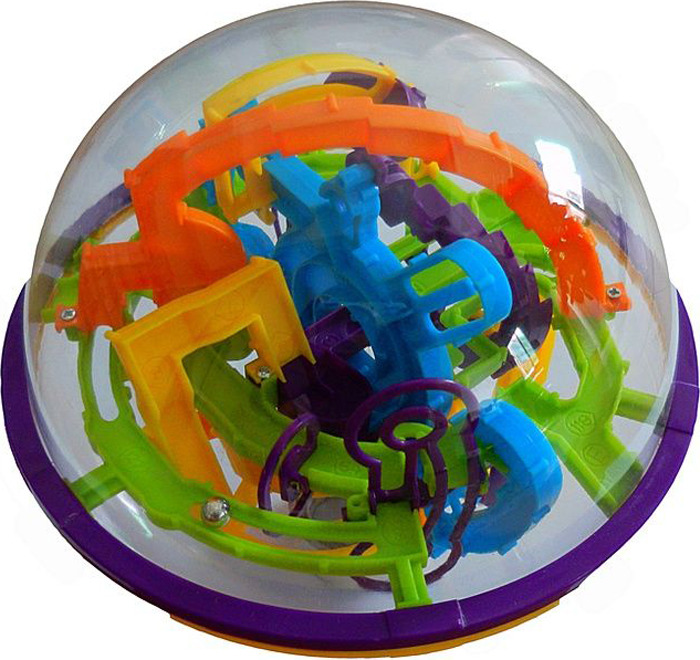 "Игрушка-головоломка Icoy Toys ""Шар-лабиринт. 158 шагов"", диаметр 17 см"